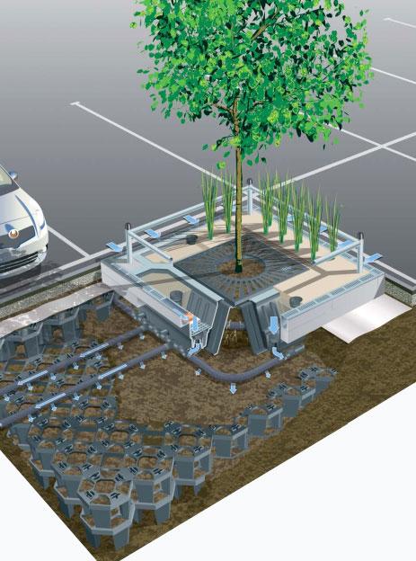 Sustav za upravljanje oborinskim vodama i sadnju stabala